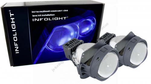 Комплект LED-линз Infolight G15 BI-LED Blue